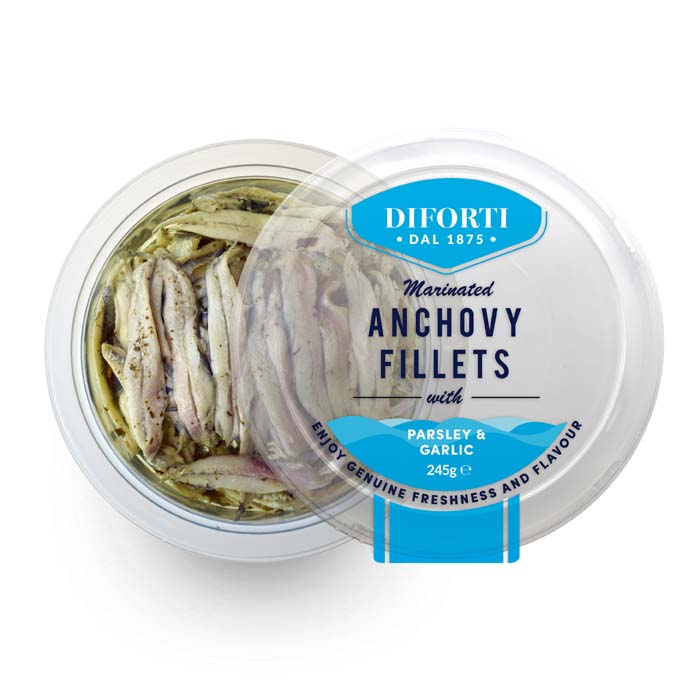 Anchovy Fillets With Parsley And Garlic 245g