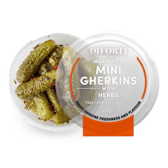 Mini Gherkins With Herbs 180gr